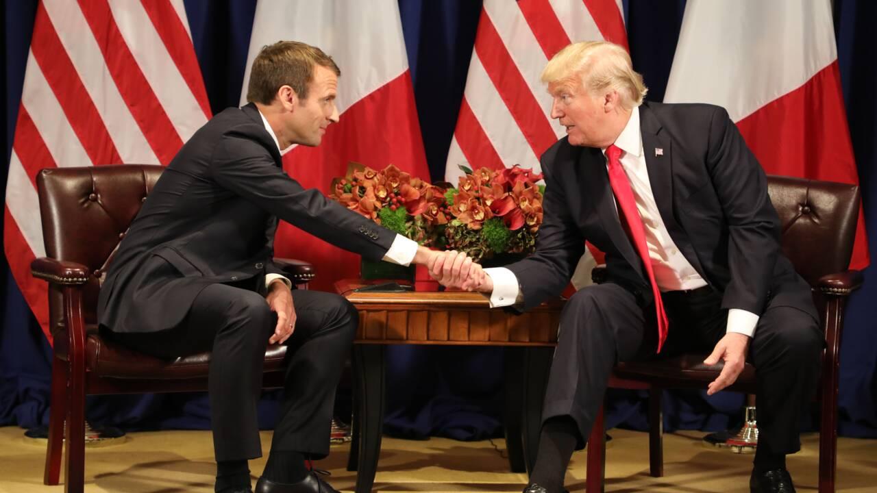 """Macron: """"je ne céderai rien aux équilibres de l'accord de Paris"""" sur le climat"""