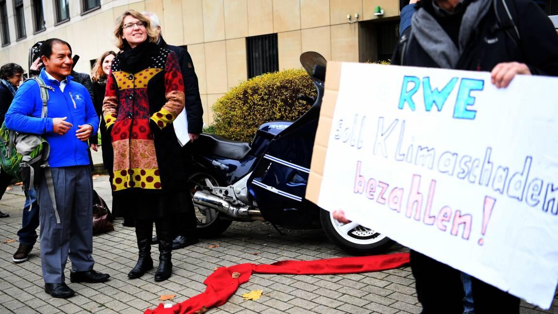 Climat: 1er succès devant la justice allemande pour un fermier péruvien