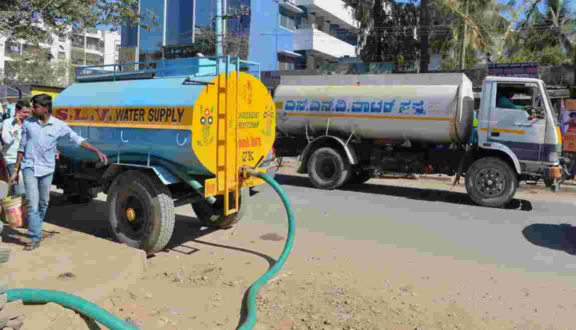 Capitale de la hi-tech d'Inde, Bangalore a la gorge sèche