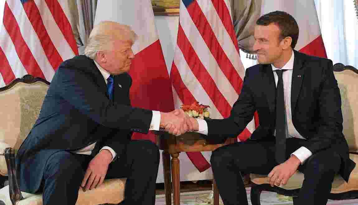 """Climat: Macron demande à Washington d'éviter une """"décision précipitée"""" sur l'accord de Paris"""