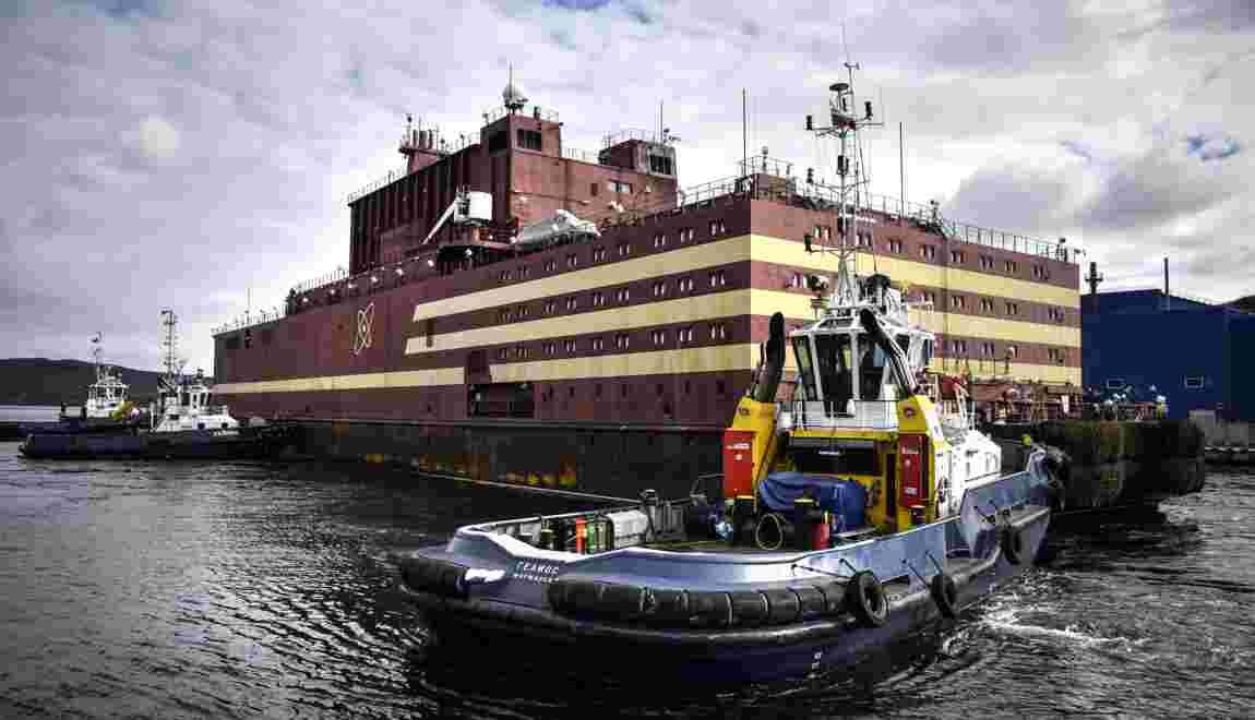La Russie présente la première centrale nucléaire flottante du monde