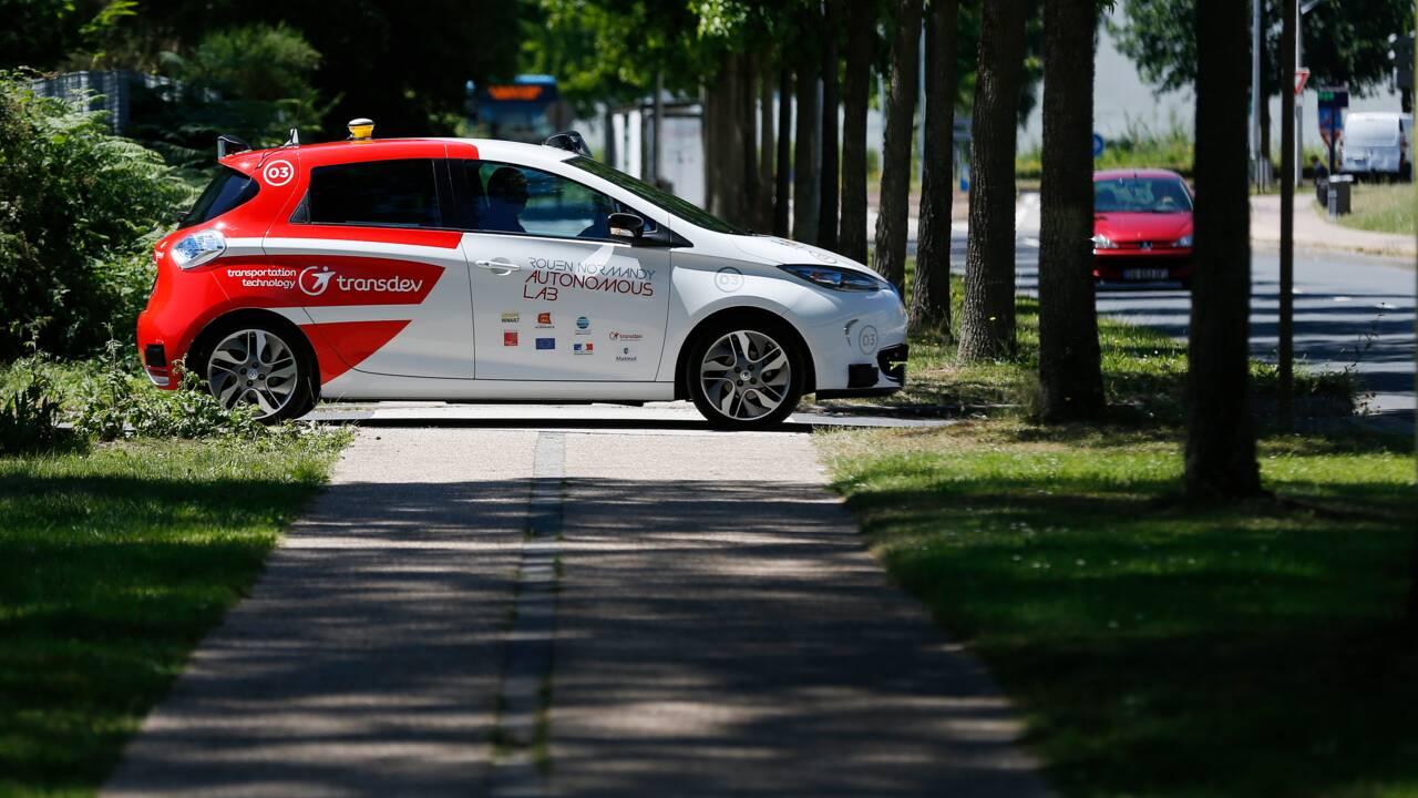 """Des véhicules autonomes à la demande expérimentés à Rouen, """"première en Europe"""""""
