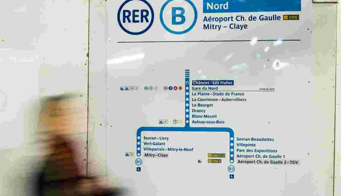 RER B: trafic interrompu toute la journée entre Paris et Roissy