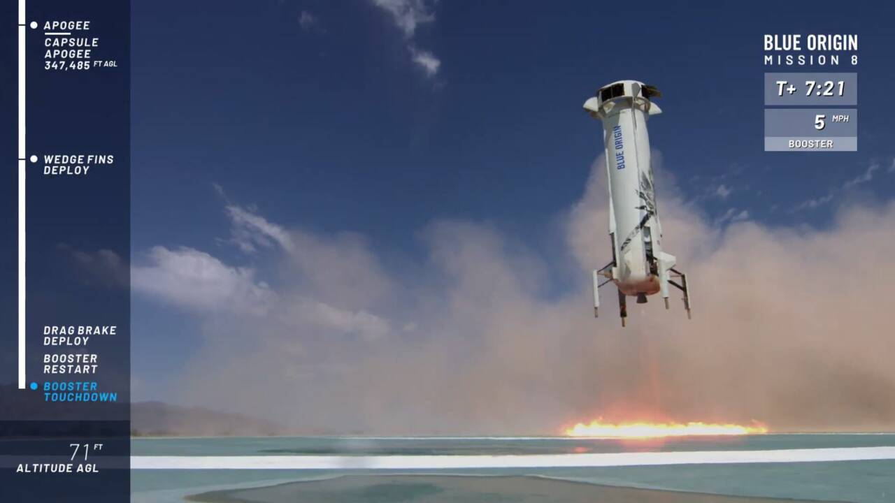 Premier vol de l'année réussi pour Blue Origin