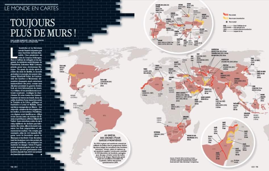 LE MONDE EN CARTES : Toujours plus de murs