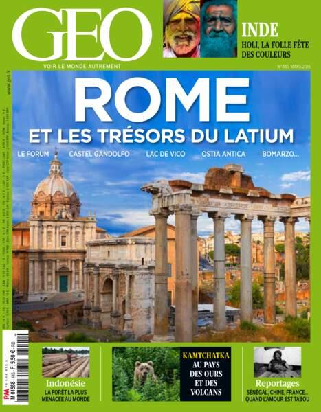 Retrouvez l'intégralité de notre dossier sur Rome et le Latium dans le magazine GEO de mars 2016 (n°445)