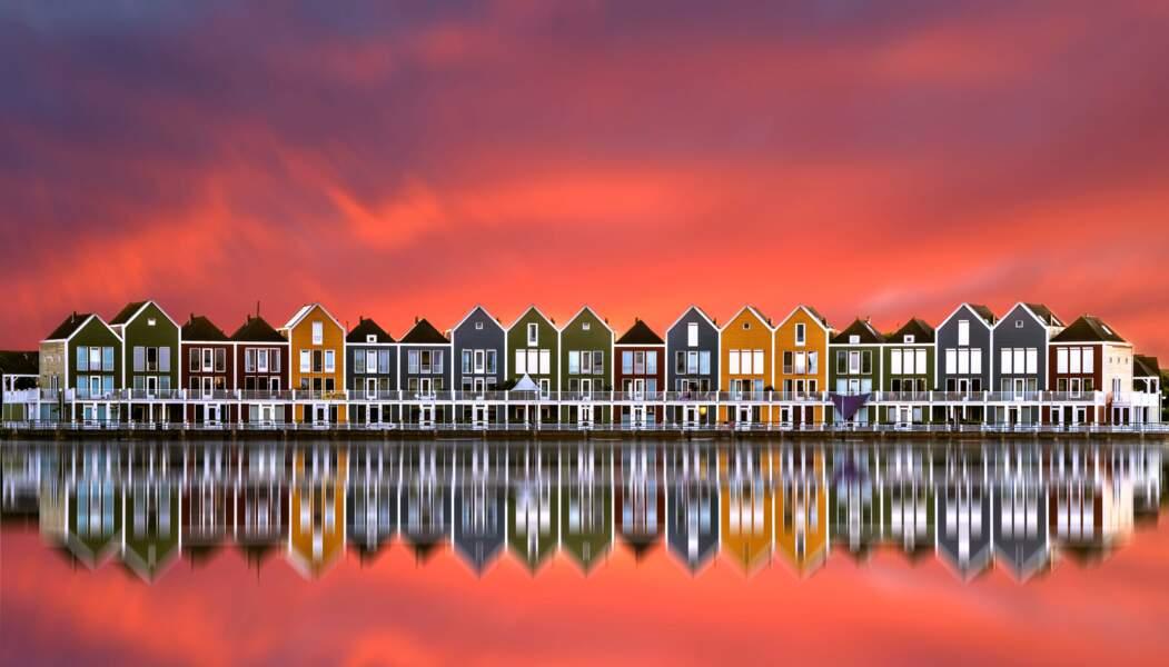 Bicoques flamboyantes à Houten, Pays-Bas