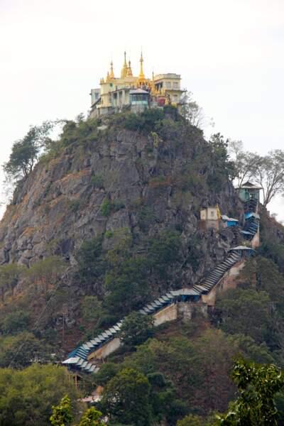 Le mont Popa en Birmanie