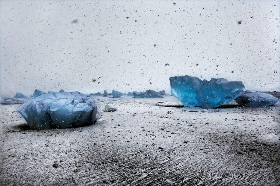 Lac glaciaire côtier de Jökulsárlón