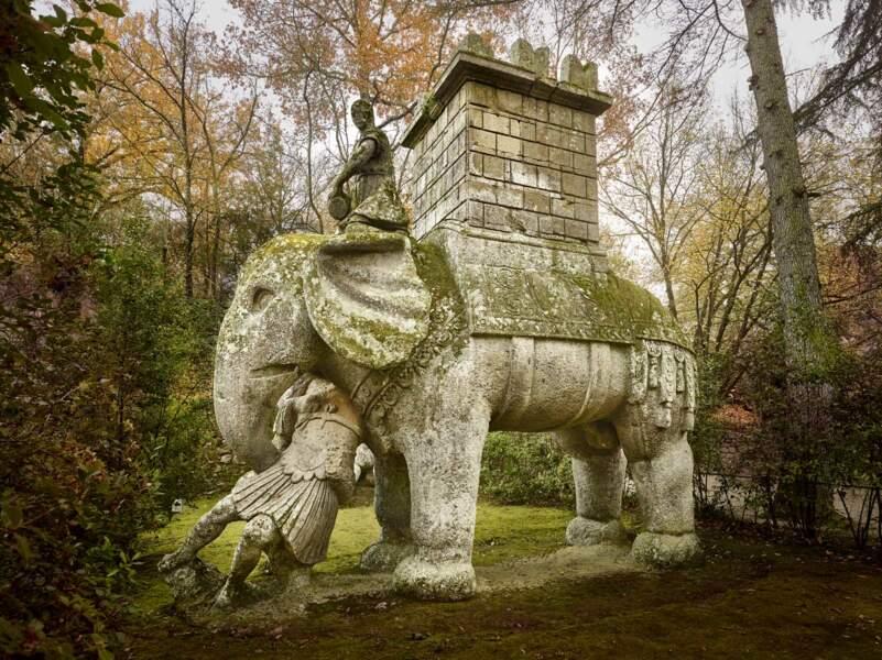 A Bomarzo, l'éléphant d'Hannibal