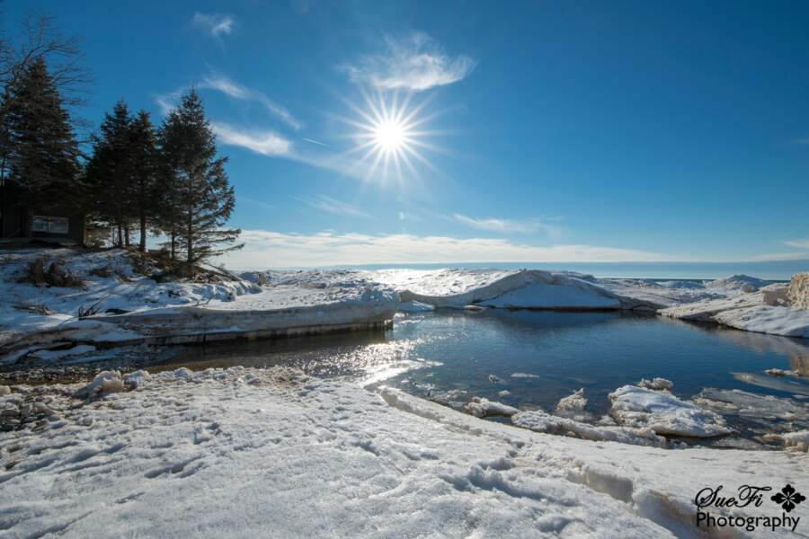 La côte du lac Michigan