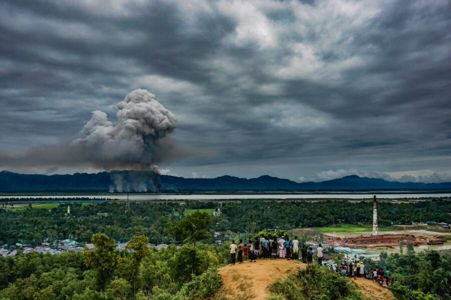 """Spectacle de désolation pour des réfugiés Rohingya au Bangladesh - Catégorie """"infos générales"""" (images uniques)"""