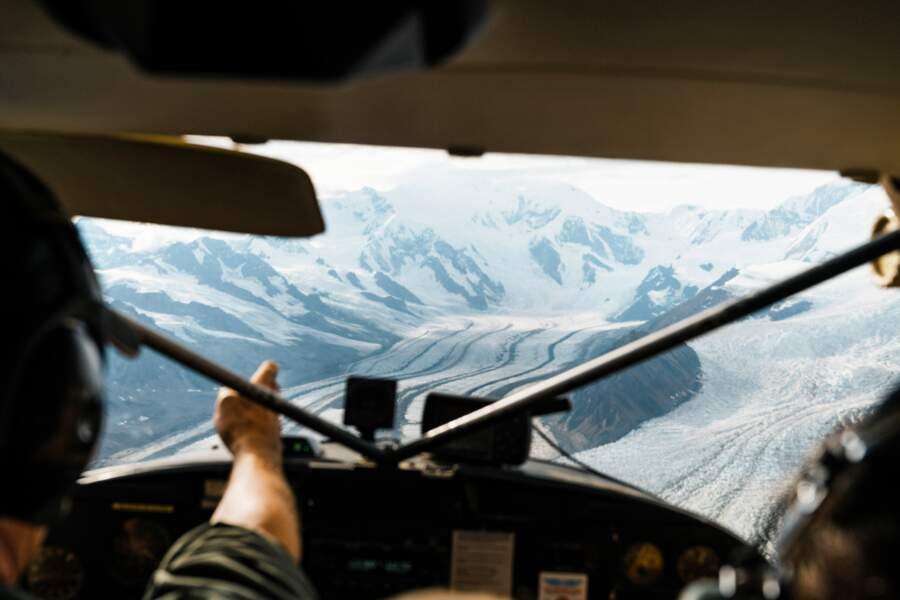 Survol des glaciers