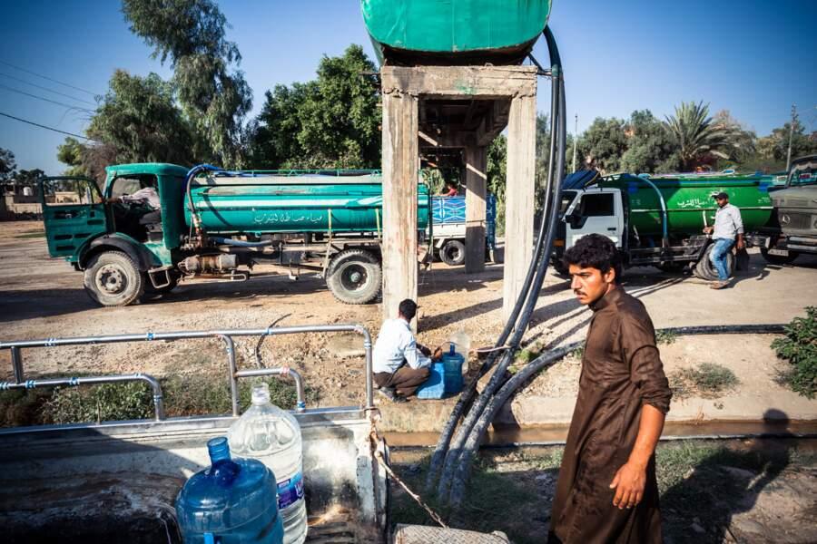 En Jordanie, des puits pour se ravitailler en eau