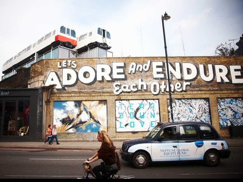 Street art à Hoxton, Quartiers Est de Londres