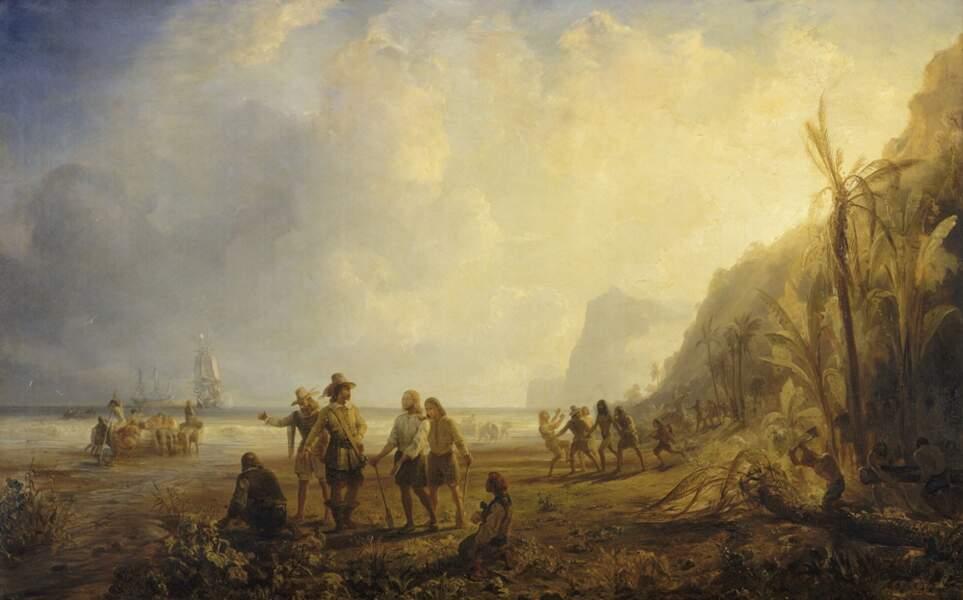 Le 15 septembre 1635, les Français font la rencontre des Kalinagos