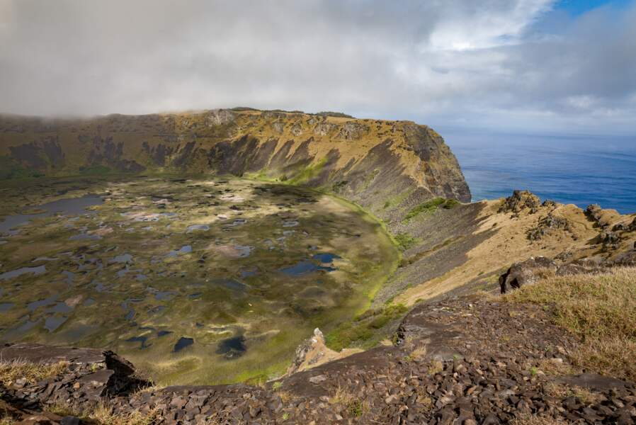 Un immense cratère…
