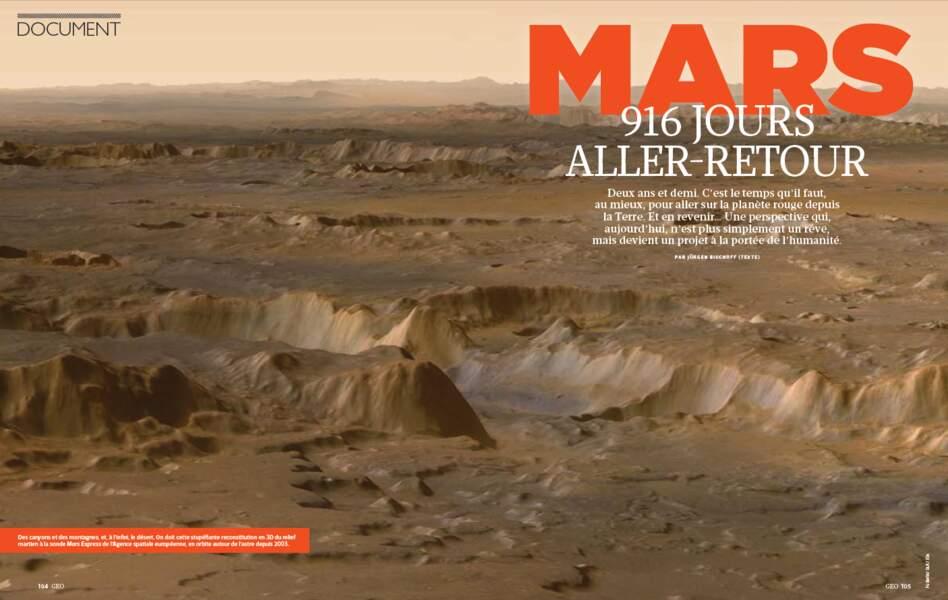 DÉCOUVERTE : Mars, 916 jours aller-retour