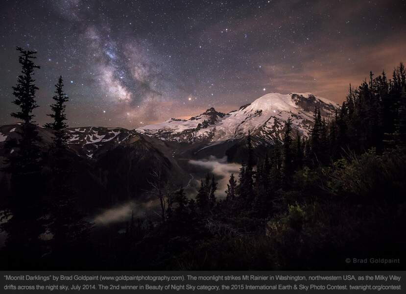 Mount Rainier, dans l'état de Washington, aux Etats-Unis