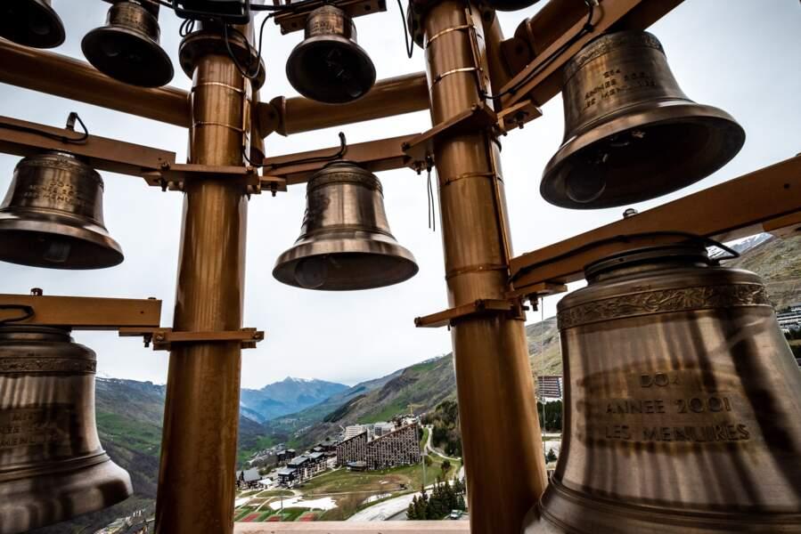 Les Menuires vues depuis le haut du clocher, Savoie