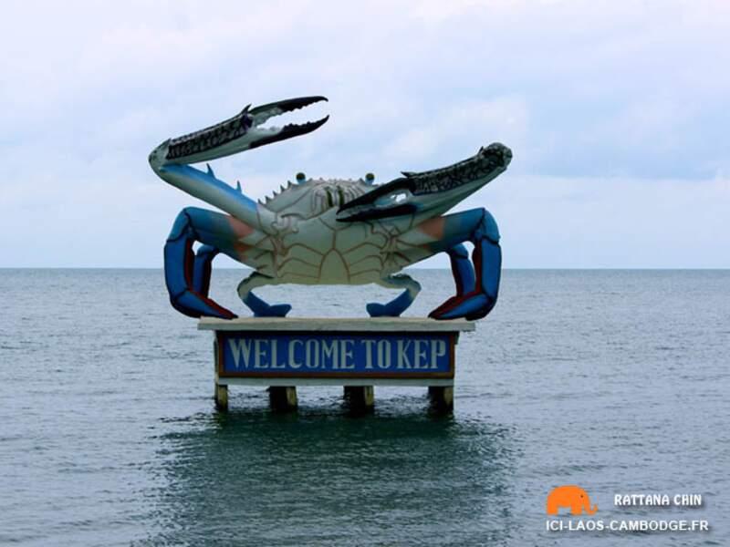 Cambodge - Visiter Kep la ville au superbe crabe bleu
