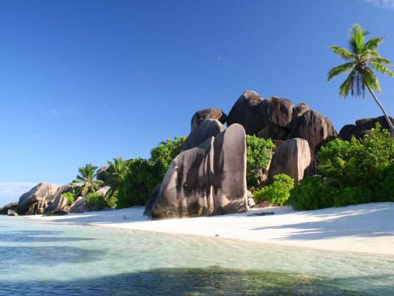 La plage d'Anse Source d'Argent aux Seychelles