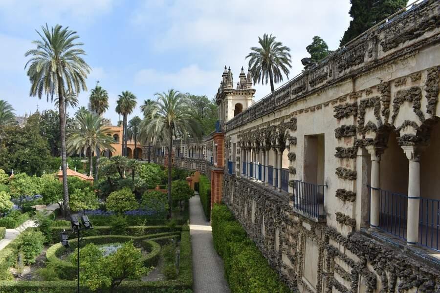L'alcazar de Séville, en Espagne : Lancehélion, le château de la maison Martell, à Dorne
