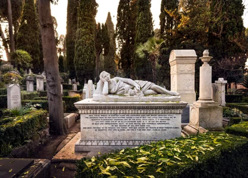 Sépulture dans le cimetière acattolico (non catholique) de Rome