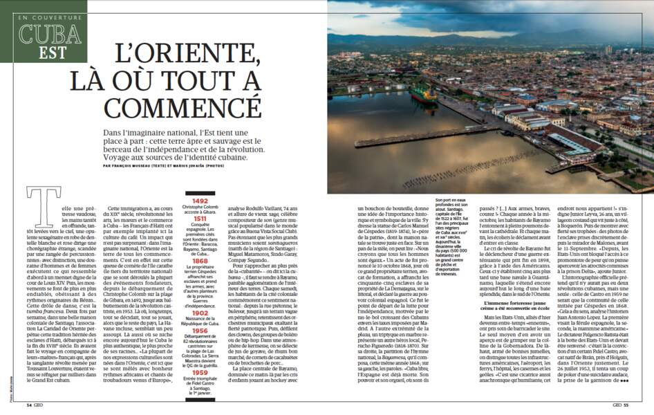 EN COUVERTURE - Cuba : L'Oriente, là où tout a commencé