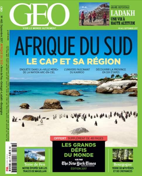 Grand dossier à découvrir en intégralité dans le magazine GEO de septembre 2017 (n°463, Le Cap)
