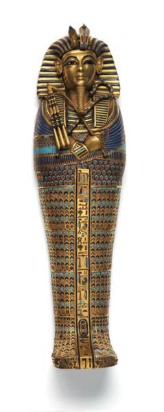 Cercueil miniature canope à l'effigie de Toutankhamon