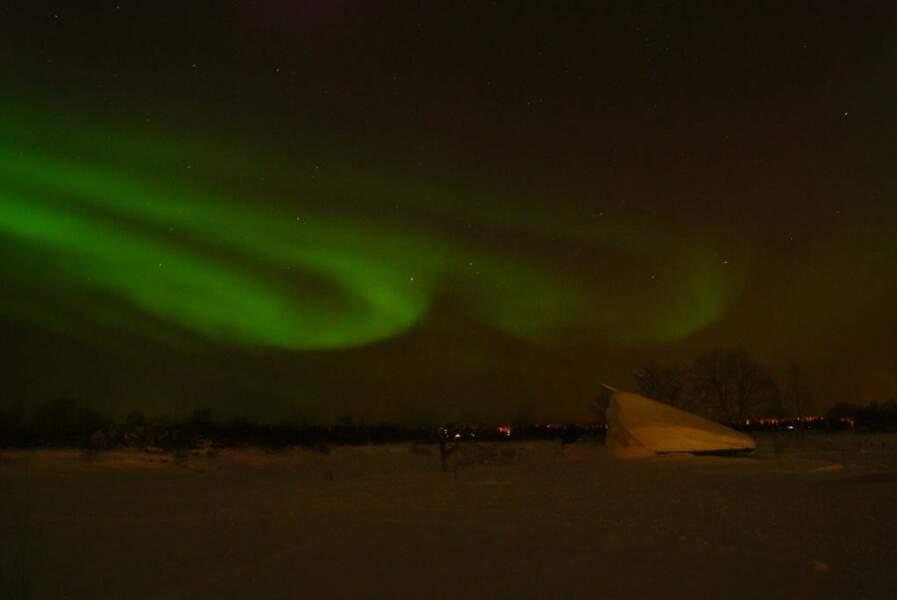 Aurore boréale à Kittila, en Finlande, par Oriane Guilbaud / Communauté GEO