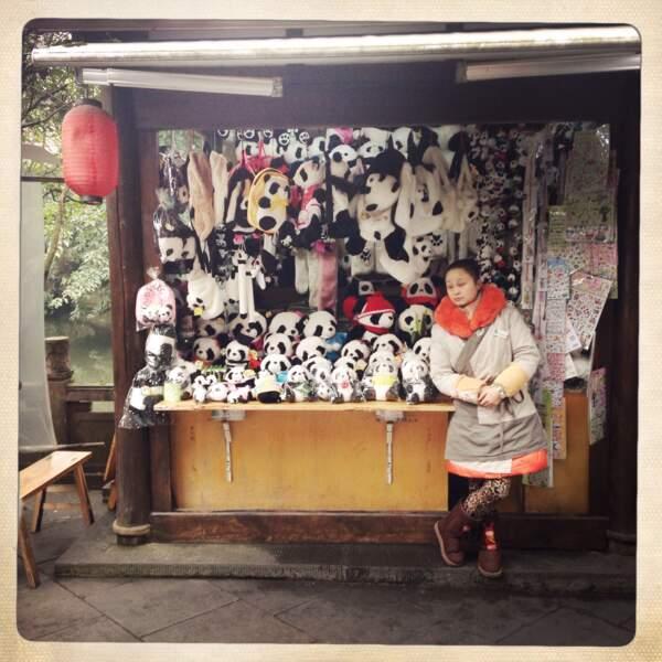 Le panda en mode hivernale
