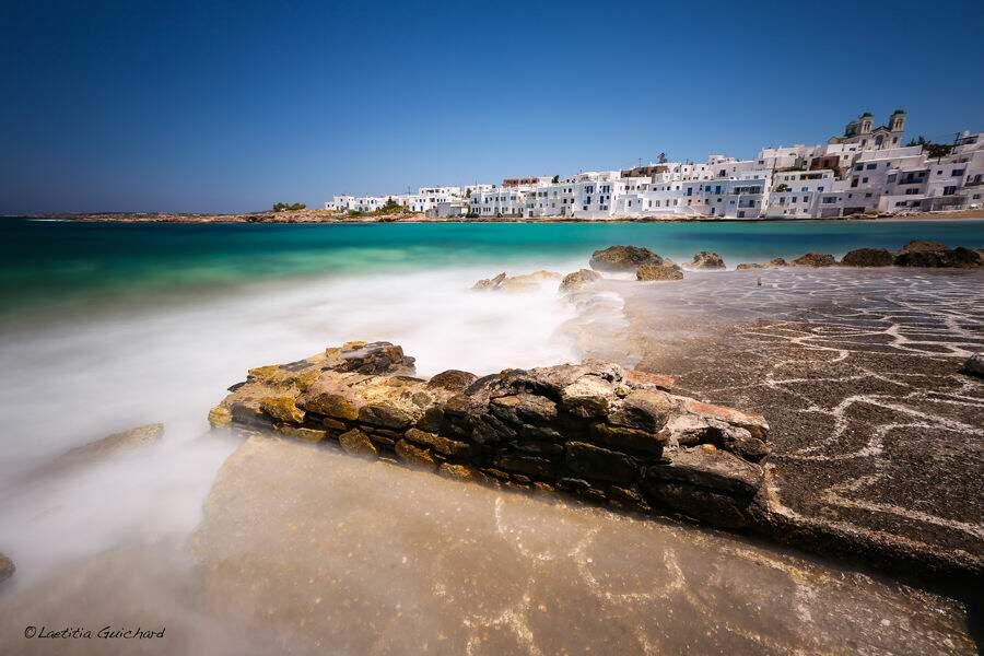 Ville de Naoussa sur l'île de Paros, archipel des Cyclades