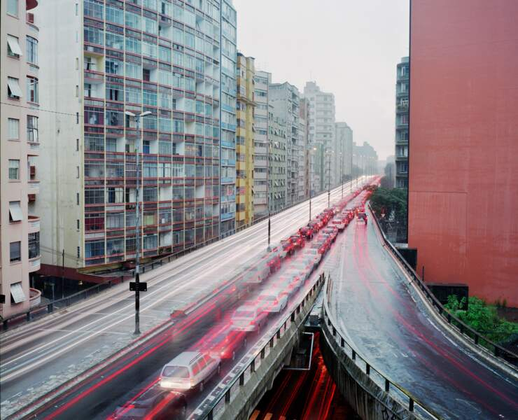 São Paulo, embouteillages et pollution