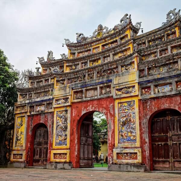Porte intérieure de la cité impériale de Hué, qui fut l'ancienne capitale du Viêt Nam jusqu'en 1945