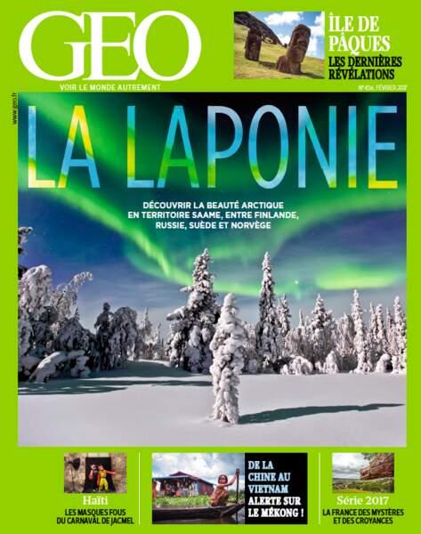Reportage à découvrir dans le magazine GEO de février 2017 (n°456, Laponie)