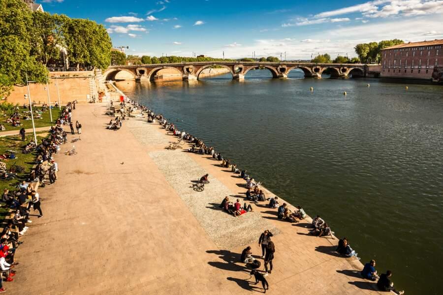 A Toulouse, sur les berges de la Garonne