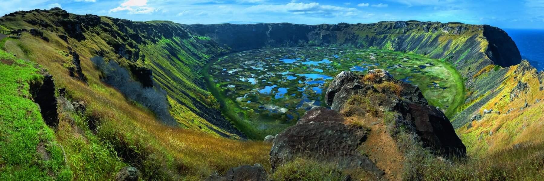 Le volcan Rano Kau