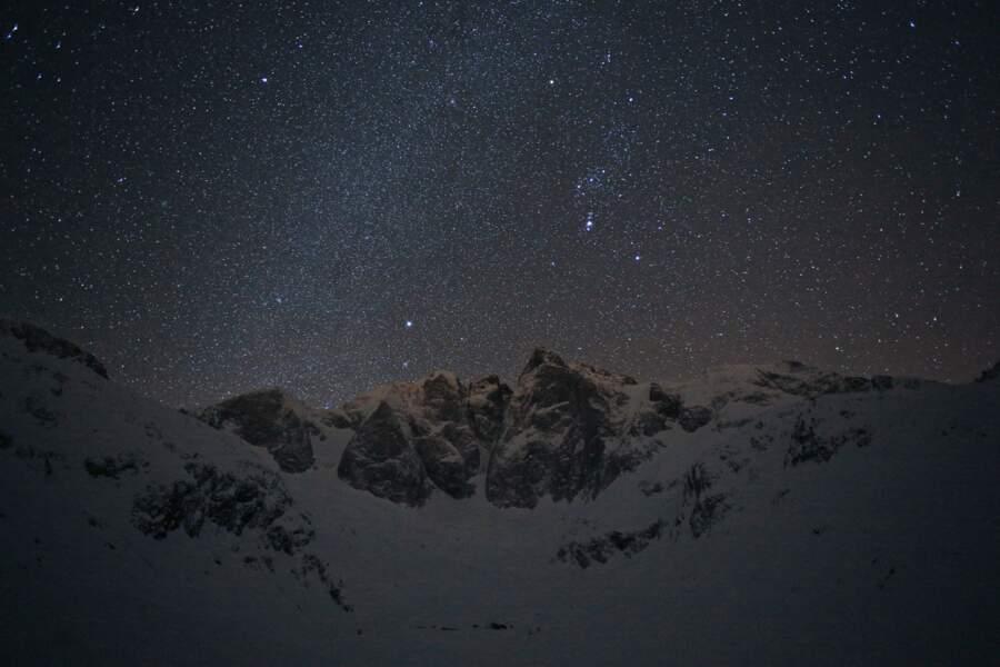 """Dans la """"zone cœur"""" de la réserve : le massif du Vignemale dans son manteau d'hiver"""