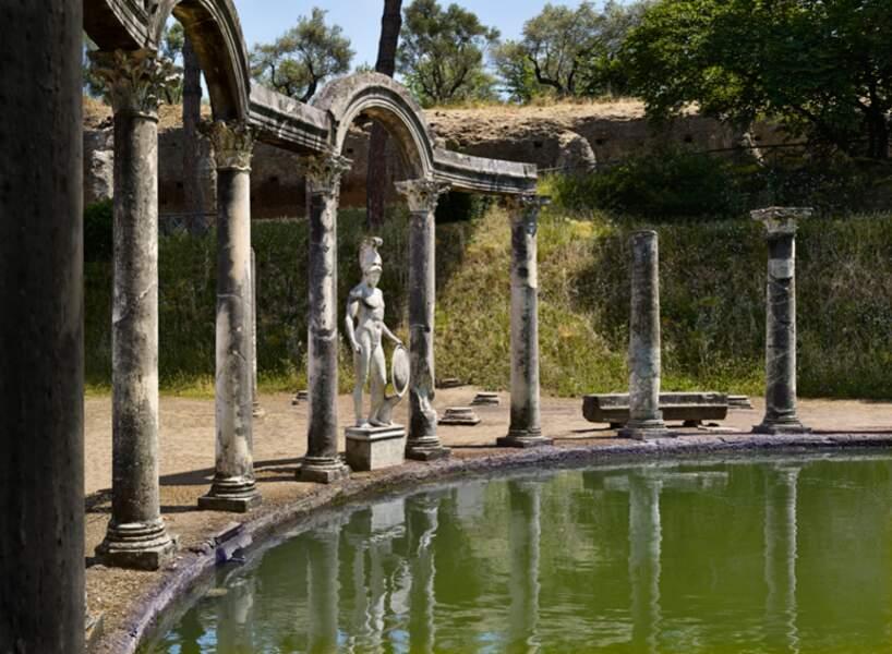Mars, dieu de la guerre, dans le parc de la villa d'Hadrien, à Tivoli