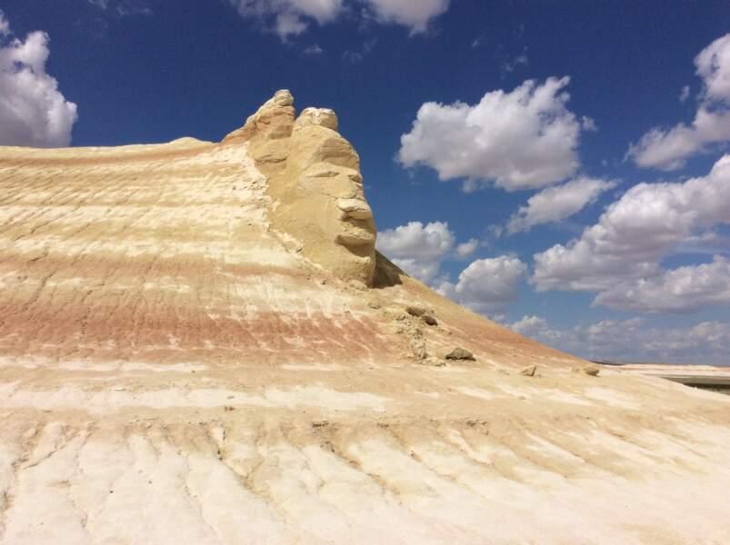 Une sculpture naturelle qui peut faire écho au mont Rushmore aux Etats-Unis