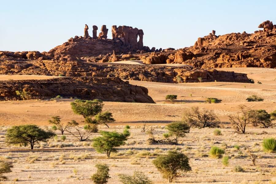 Paysage naturel et culturel du massif de l'Ennedi, au Tchad