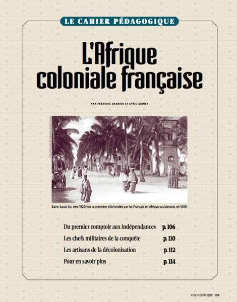 CAHIER PÉDAGOGIQUE : L'Afrique coloniale française