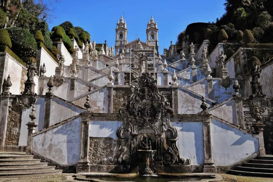 Portugal toujours : le site du Sanctuaire du Bon Jésus du Mont à Braga