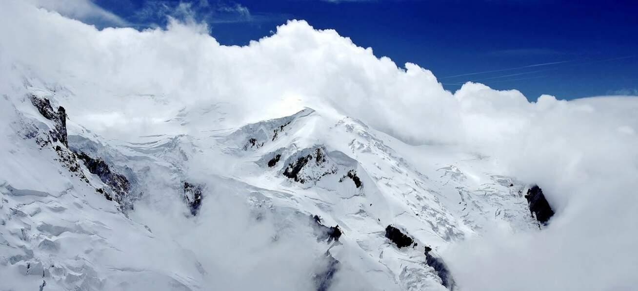 Glacier des Bossons, dans les Alpes