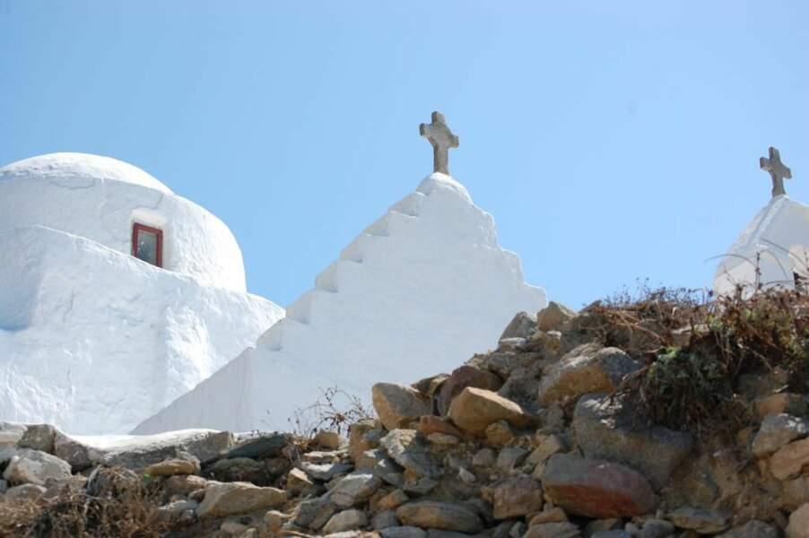 Chapelle sur l'île de Santorin