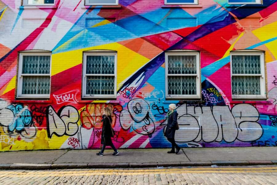 2 Graffiti à Brick Lane, Londres