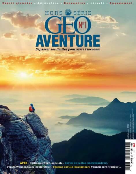 Retrouvez notre portrait consacré à Xavier de Le Rue dans le GEO hors-série Aventure n° 1 (juillet - août 2017)