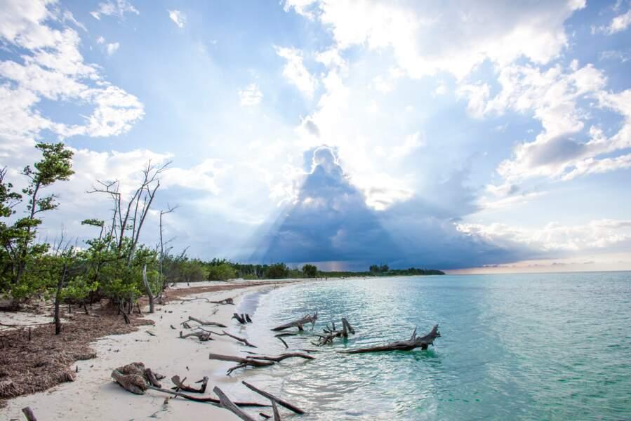 Une plage encore préservée